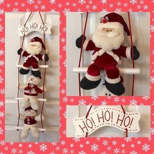 Other - Holiday Christmas decor hanging Santa and snowmen